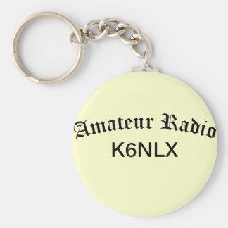 Porte-clés Radio et indicatif d'appel amateurs