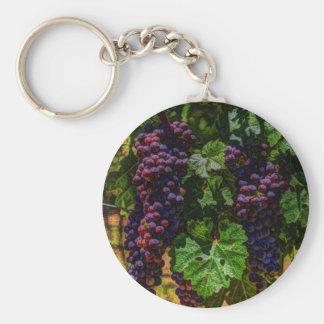 Porte-clés Raisins ensoleillés de vignoble de la Toscane de