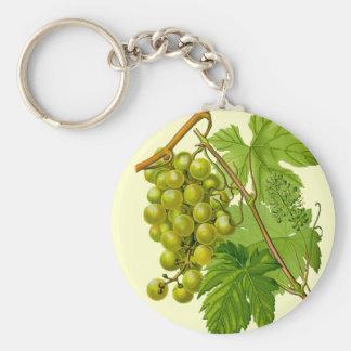 Porte-clés Raisins sur le porte - clé botanique de dessin de