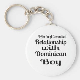 Porte-clés Rapport avec le garçon dominicain