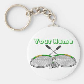 Porte-clés Raquettes croisées par joueur personnalisées de