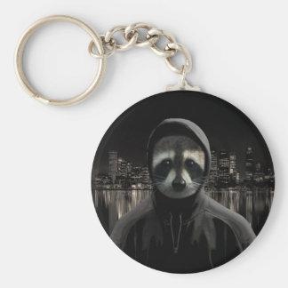 Porte-clés Raton laveur de Gangsta