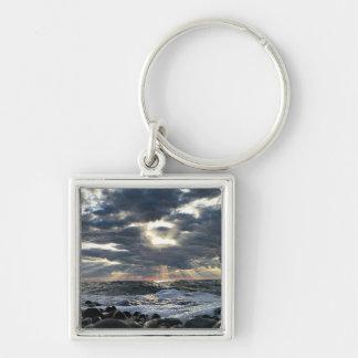 Porte-clés Rayons de soleil sur un rivage rocheux