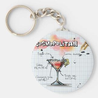 Porte-clés Recette cosmopolite - cadeau de cocktail