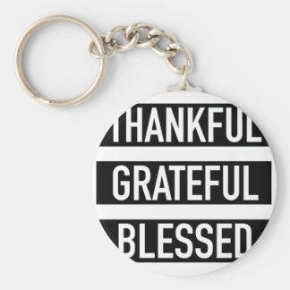 Porte-clés Reconnaissant reconnaissant béni