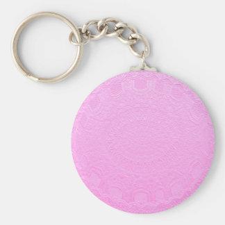 Porte-clés Regard gravé de soie rose : Ajoutez le texte ou