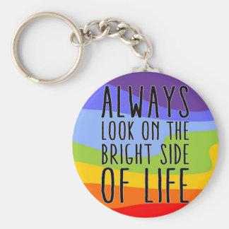 Porte-clés Regardez toujours du bon côté de la vie