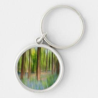 Porte-clés Région boisée BRITANNIQUE de chêne de jacinthe des