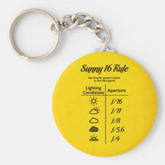 Porte-clés Règle 16 ensoleillée