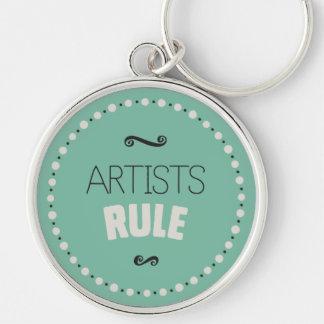 Porte-clés Règle d'artistes - vert