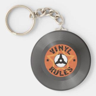Porte-clés Règles de vinyle