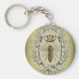 Porte-clés reine des abeilles chic de couronne de victorian