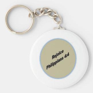 Porte-clés Réjouissez-vous le porte - clé rond