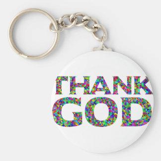Porte-clés Remerciez Dieu