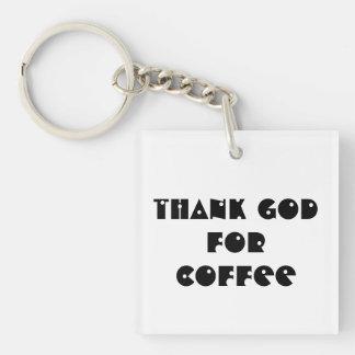 Porte-clés Remerciez Dieu du porte - clé de café