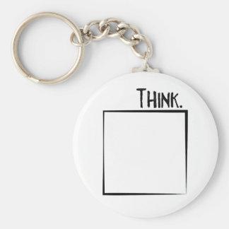 Porte-clés Remerciez en dehors de la typographie de coquille