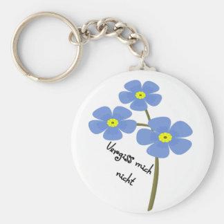 Porte-clés Remorque clée avec un motif de fleurs