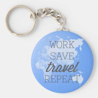 Porte-clés Répétition de voyage d'économies de travail