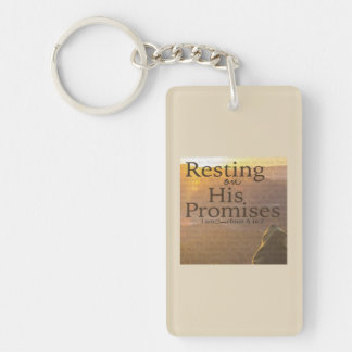 Porte-clés Repos sur son porte - clé de promesses