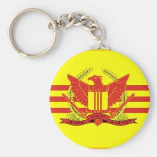 Porte-clés République de drapeau de forces militaires du