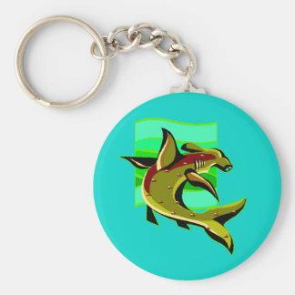 Porte-clés Requin de poisson-marteau vert