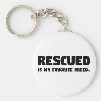 Porte-clés Rescued est ma race préférée