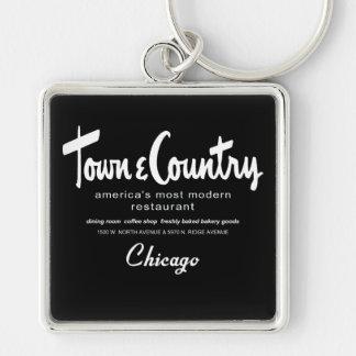 Porte-clés Restaurants de ville et de campagne, Chicago, IL