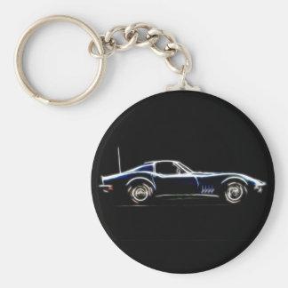 Porte-clés Résumé Chevrolet Corvette 1968 Keych