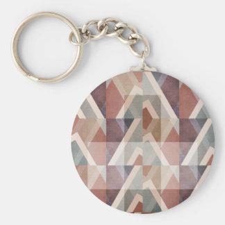 Porte-clés Résumé géométrique texturisé