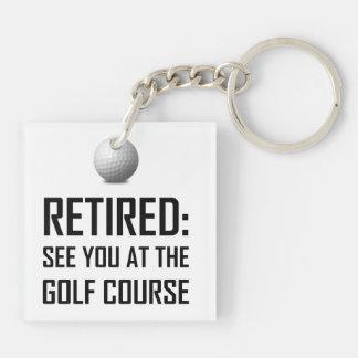 Porte-clés Retiré voyez-vous au terrain de golf
