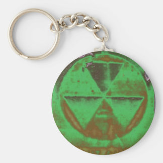Porte-clés retombées radioactives vertes