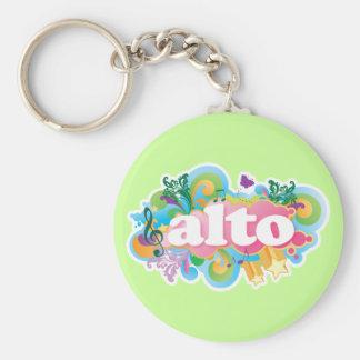 Porte-clés Rétro cadeau de choeur de chanteur d'alto d'éclat