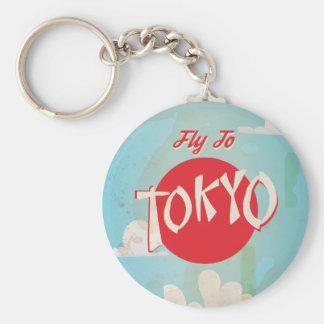 Porte-clés Rétro mouche vintage à l'affiche de voyage de