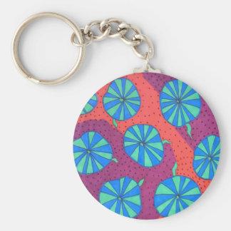 Porte-clés Rétro porte - clé coloré d'impression d'art