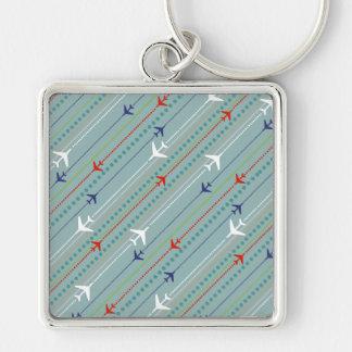 Porte-clés Rétro porte - clé de motif d'avion