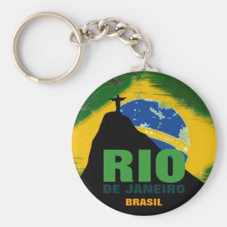 Porte-clés Rio de Janeiro - drapeau du Brésil