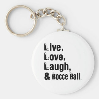Porte-clés Rire vivant d'amour et boule de Bocce
