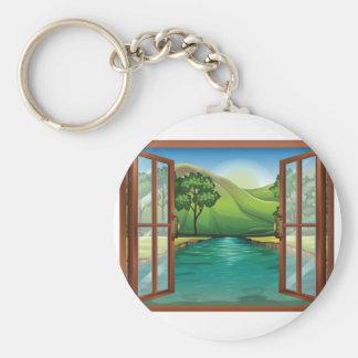Porte-clés Rivière par un porte - clé de fenêtre ouverte