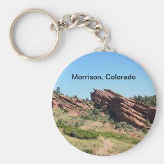 Porte-clés roches rouges en Morrison, le Colorado