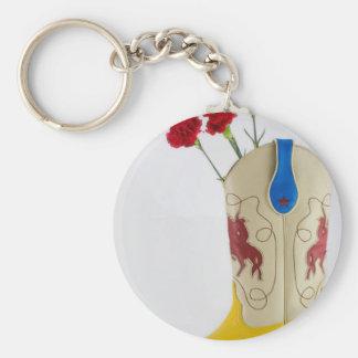 Porte-clés Rodéo bleu jaune rouge occidental de cheval de