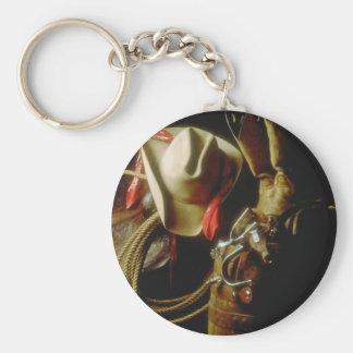 Porte-clés Rodéo occidental de cowboy de lumière du soleil de