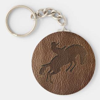 Porte-clés Rodéo simili cuir