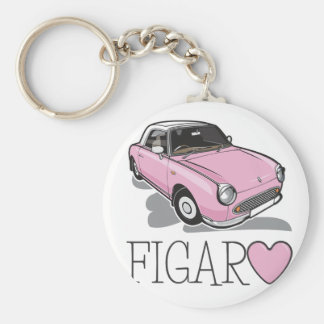 Porte-clés Rose de Nissan Figaro