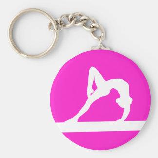 Porte-clés Rose de porte - clé de silhouette de gymnaste
