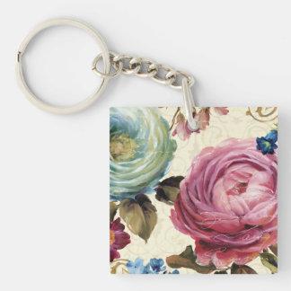 Porte-clés Rose et rose de bleu