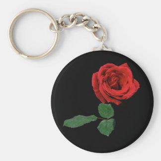 Porte-clés Rose rouge simple