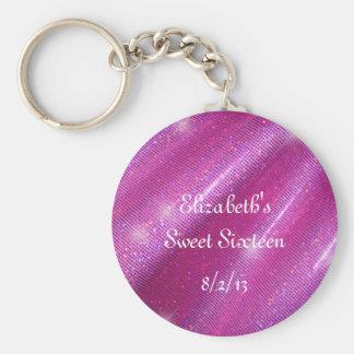 Porte-clés Rose, scintillement de Faux, faveur de sweet