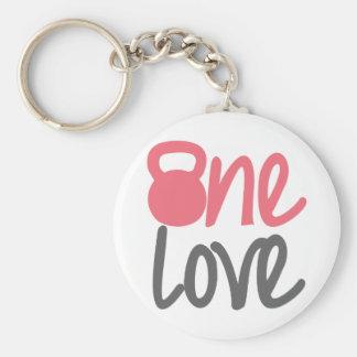 """Porte-clés Rose """"un amour """""""