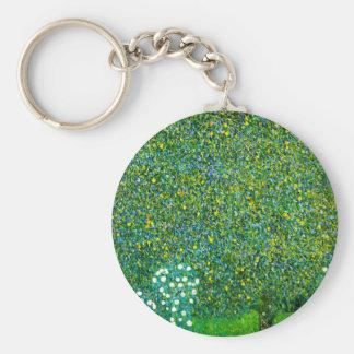 Porte-clés Roses de Gustav Klimt sous le porte - clé de