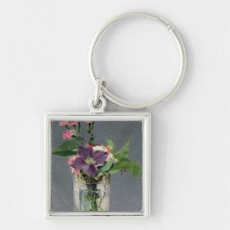 Porte-clés Roses de Manet | et clématite dans un vase en